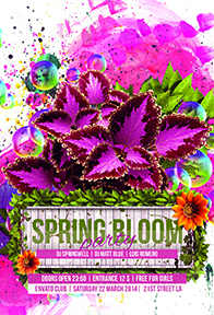 Spring Love Flyer Template